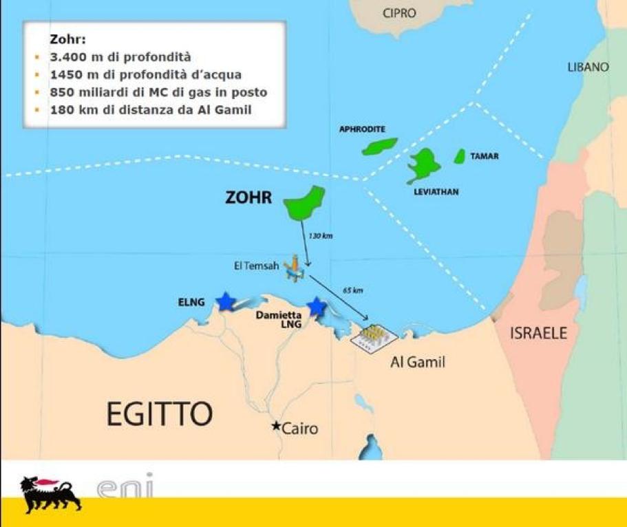 Eni, Ga, Zohr, Egitto, Giacimento, Mar Mediterraneo