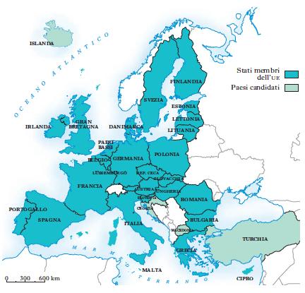 Gli Stati dell'Unione Europa
